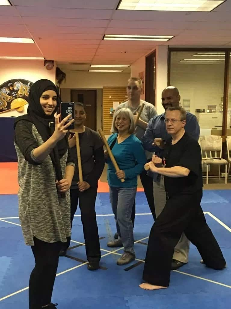 Woman from Saudi Arabia teaches Filipino martial arts to teach girls defense from harassment
