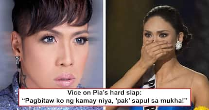Sapul na sapul ah! Vice Ganda tells Pia Wurtzbach to stop after Queen P slaps him real hard on the face!