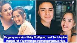 Unica hija ni Ruby Rodriguez na si Toni Aquino, engaged na sa kanyang non-showbiz boyfriend