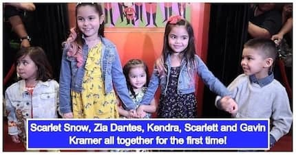 Scarlet Snow, Zia Dantes & Kramer kids join forces at movie premiere of 'The Incredibles 2'