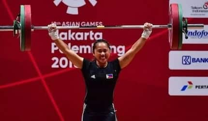 Hidilyn Diaz bested women's weightlifting category in Asian Games with gold medal