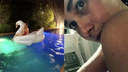 Home alone? Bea Alonzo avoids socializing this weekend and opts to relax at her own swimming pool instead
