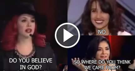 These judges at the talent show teach 16 y.o. girl a lesson for not believing in God