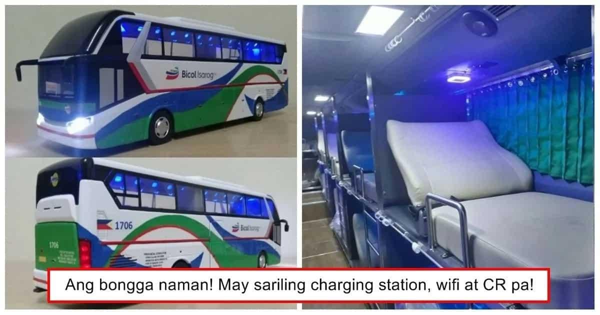 Ang sarap naman sumakay diyan! This bus with large beds wows