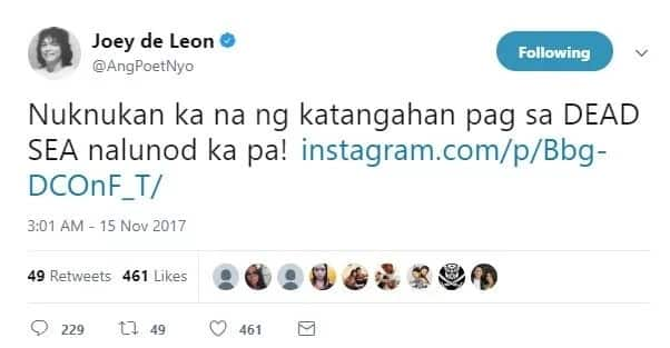 "Insensitive nga ba siya? Joey de Leon was bashed again after ""nalunod"" post in social media"