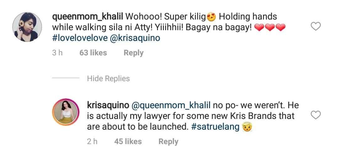 Kris Aquino finally clarifies her relationship with Atty. Gideon Peña