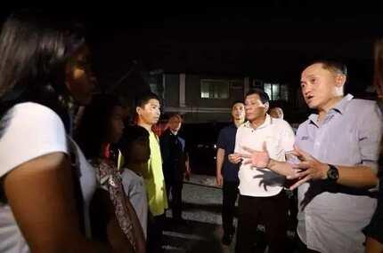 Batang toyo at suka ang pananghalian, binisita ni Pres. Duterte