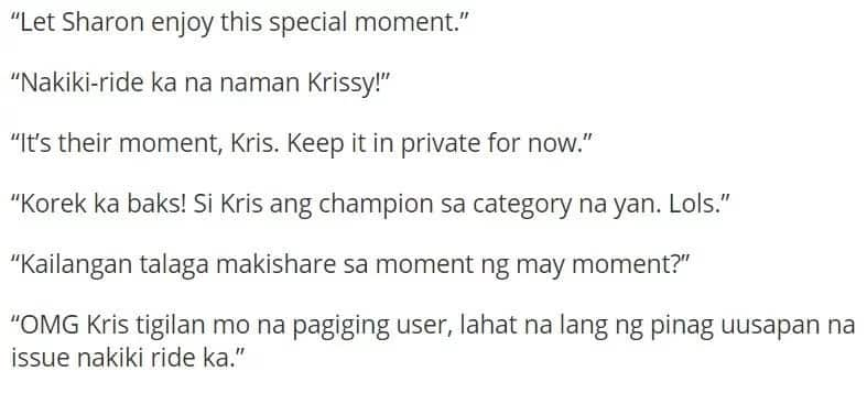 Sharonians react to Kris Aquino's message to Ate Shawie