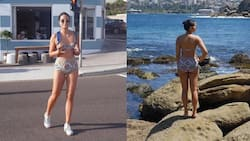 Isabelle Daza struts around in a two-piece and no one bats an eye