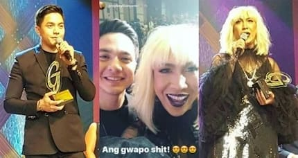 Guwapong guwapo siya! Vice Ganda takes a selfie with Pambansang Bae Alden Richards