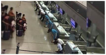 Sana lahat! Picture of Japanese airline staff taking a bow due to a delayed flight goes viral