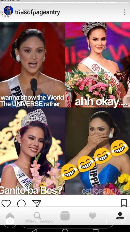I got you, Queen Pia! Binibining Pilipinas-Universe Catriona Gray transforms self into a meme