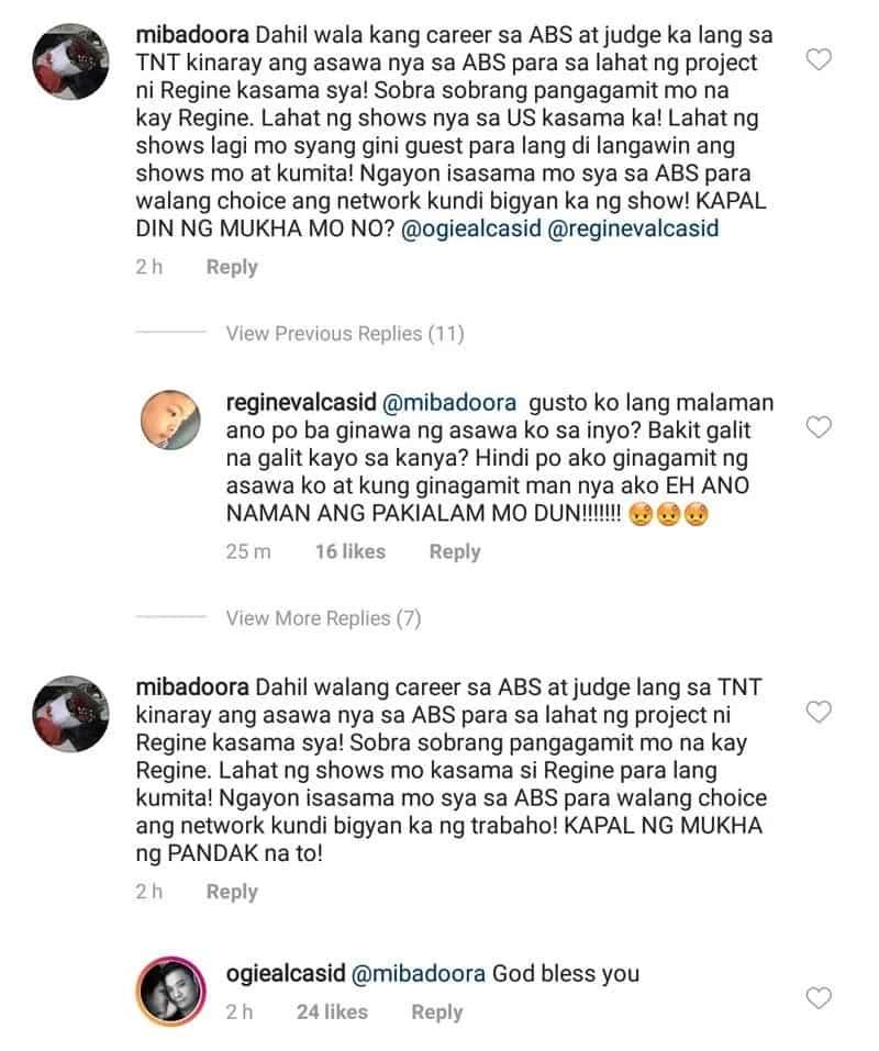 Lumabas ang taray! Regine Velasquez, level up ang pagkumpronta sa basher na umalipusta sa pagkatao ni Ogie Alcasid
