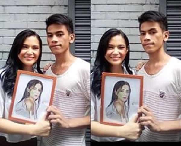 Fan art artist, maswerteng naiabot mismo ang mga nilikha niya para sa cast ng 'Kambal karibal'