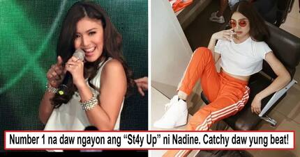 """Ang bilis bumenta! Nadine Lustre's new single """"St4y Up"""" immediately trends a few hours after its release"""