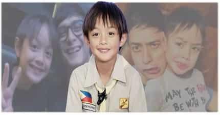 Pogi! Lucho Agoncillo is growing up gwapo like dad Ryan Agoncillo