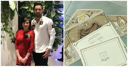 Pang-royal wedding! Vicki Belo shares a glimpse of her and Hayden Kho's wax-sealed golden wedding invitation