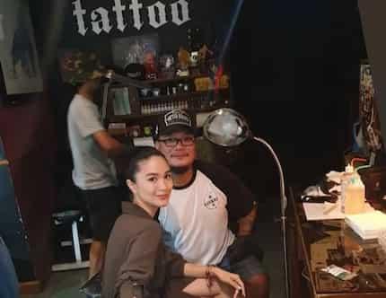 Cute! Heart Evangelista gets a lovely little tattoo on her left wrist