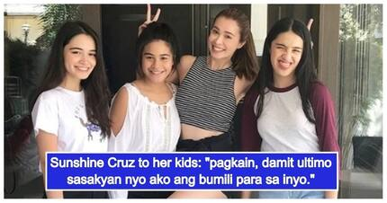 Palaban na ina! Sunshine Cruz responds to netizen who questioned her children's lifestyle