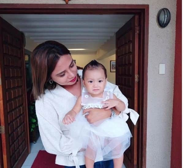 Photos of Karen Reyes & BF Sarkie Sarangay getting a baby baptized go viral