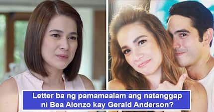 Goodbye letter niya ito? Gerald Anderson writes letter to Bea Alonzo telling actress 'You will always be my teenage crush'