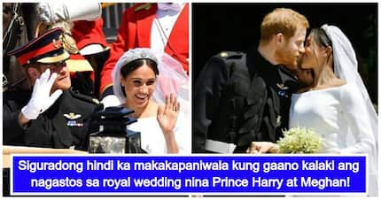 Royal wedding nina Prince Harry at Meghan Markle, mas mahal pa ang ginastos kaysa kasal nina Prince William at Kate Middleton