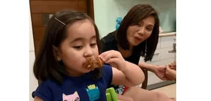 Pilipinong tunay! Priceless reaction of Scarlet Snow upon tasting chicharon bulaklak for the first time