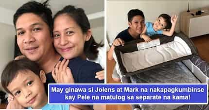 Happy na si mamshie! Jolina Magdangal at Mark Escueta nakahanap ng paraan para makumbinse si Pele na huwag matulog sa tabi nila