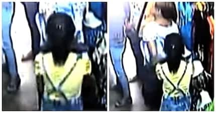 Huli sa CCTV! Evil grandmother viciously teams up with minor grandchild to steal in Bulacan stores