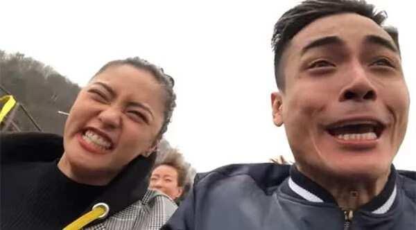 Kim Chiu napasakay ang takot na Xian Lim sa roller coaster sa South Korea