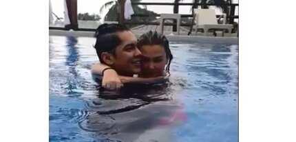 Totohanan na! Angelica Panganiban, Carlo Aquino, walang awat PDA sa gitna ng resort pool