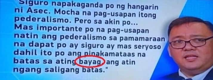 Netizens react towards Balitanghali blooper on Harry Roque's quote about Mocha Uson