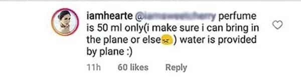 Netizens umalma sa pagdadala ni Heart Evangelista ng liquid sa hand-carry sa loob ng eroplano