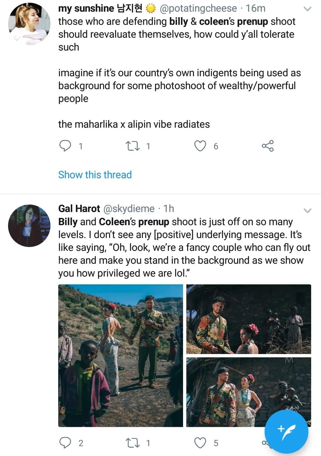 Mayaman vs. mahirap daw ang peg? Billy Crawford and Coleen Garcia's prenup photos in Africa draws flak for being culturally insensitive
