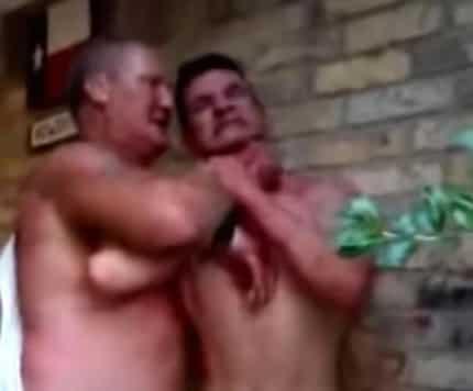 Two Drunk Rednecks Get Into A Brutal Fight Over The Last Beer