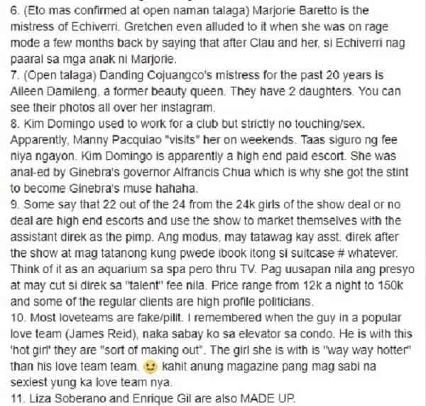 Totoo kaya o gawa-gawa lang? Facebook page exposed alleged deep secrets of Pinoy Celebrities