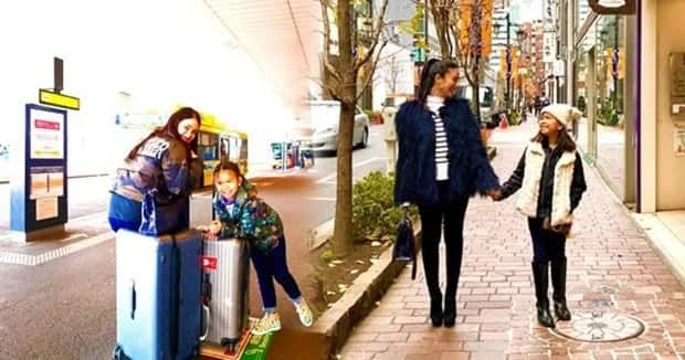 Heart spends time with Chiz's daughter in Japan