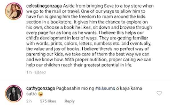 Alex Gonzaga binatikos dahil sa pag-comment ng 'kama sutra' sa post ni Toni Gonzaga tungkol kay Seve