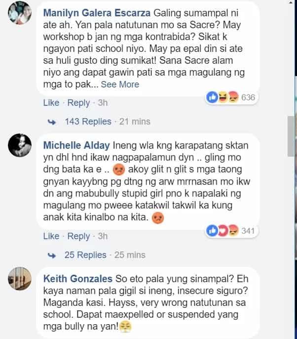 Gigil na gigil sa pagsampal! School girls caught on cam bullying and hurting a schoolmate