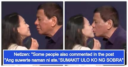 Netizens, nagulantang sa video ni Presidente Duterte na humalik di umano sa isang OFW sa South Korea