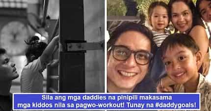 Mga tatay na makikisig! Celeb hunk daddies who prefer to have their kids as their workout buddies