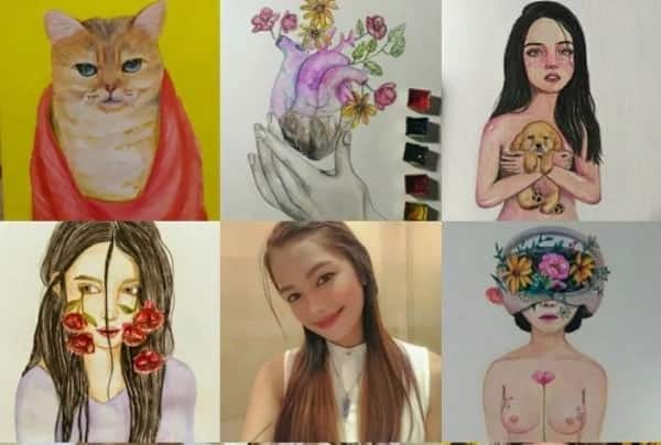 Young artist inspires others by showcasing her first art exhibit