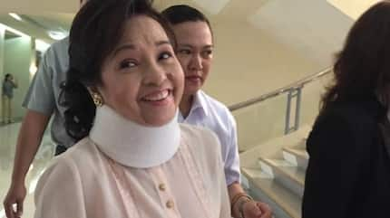 LOOK! Ex-President Arroyo, neck brace show up at the opening of 17th Congress