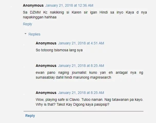 """Sakay sa issue?"" Arnold Clavio chides Karen Davila over Twitter post"