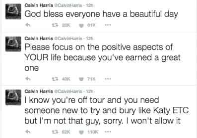 Calvin Harris blasts ex-gf Taylor Swift on Twitter