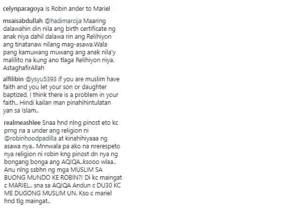 Under daw si Robin? Netizens bash Robin and Mariel Padilla after Catholic baptism of daughter