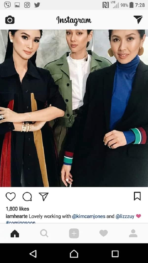 Parang ang awkward nga! Heart Evangelista posted a photo of her with Kim Jones but she also deleted it afterwards