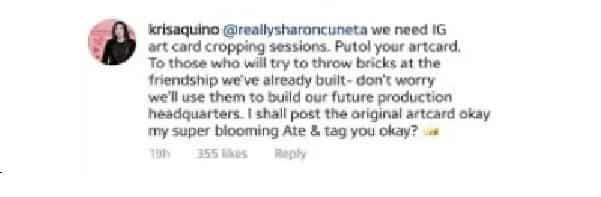 Kris Aquino responds to netizens who bash her renewed friendship with Sharon Cuneta