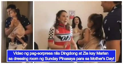 Mother's Day kasi! Marian Rivera gets surprise visit from Dingdong Dantes & Zia on Sunday Pinasaya