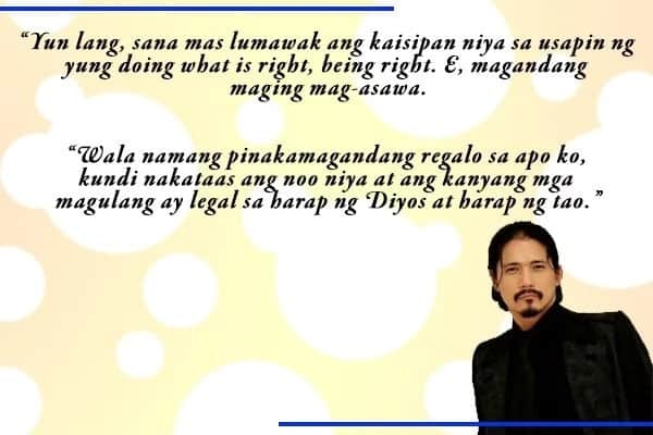 """""""Do what is right."""" Robin Padilla still firm in his stand that daughter Kylie should tie the knot with fiancé Aljur Abrenica"""